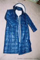 10. Navy nylon coat