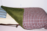 15. Fleece/checkerboard blanket